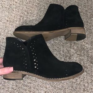 "Diba True ""Suede"" Black Boots size 7.5"